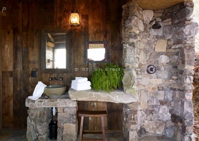 Outdoor sink, vanity, and shower.