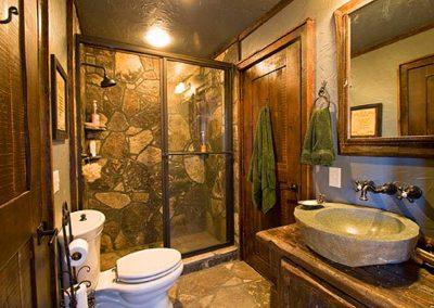 Bathroom stone work.