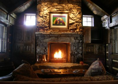 XL wood burning fireplace.