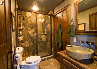 Bathroom stone work.
