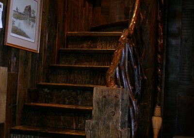 Stairway to the second bedroom.