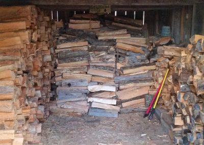 Woodshed interior